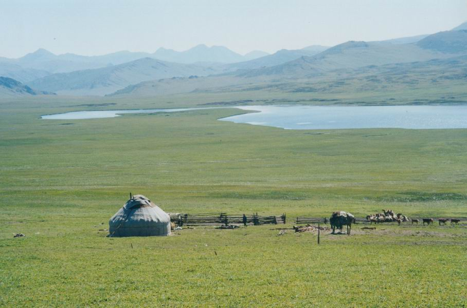 Yurt in the Pamir meadows